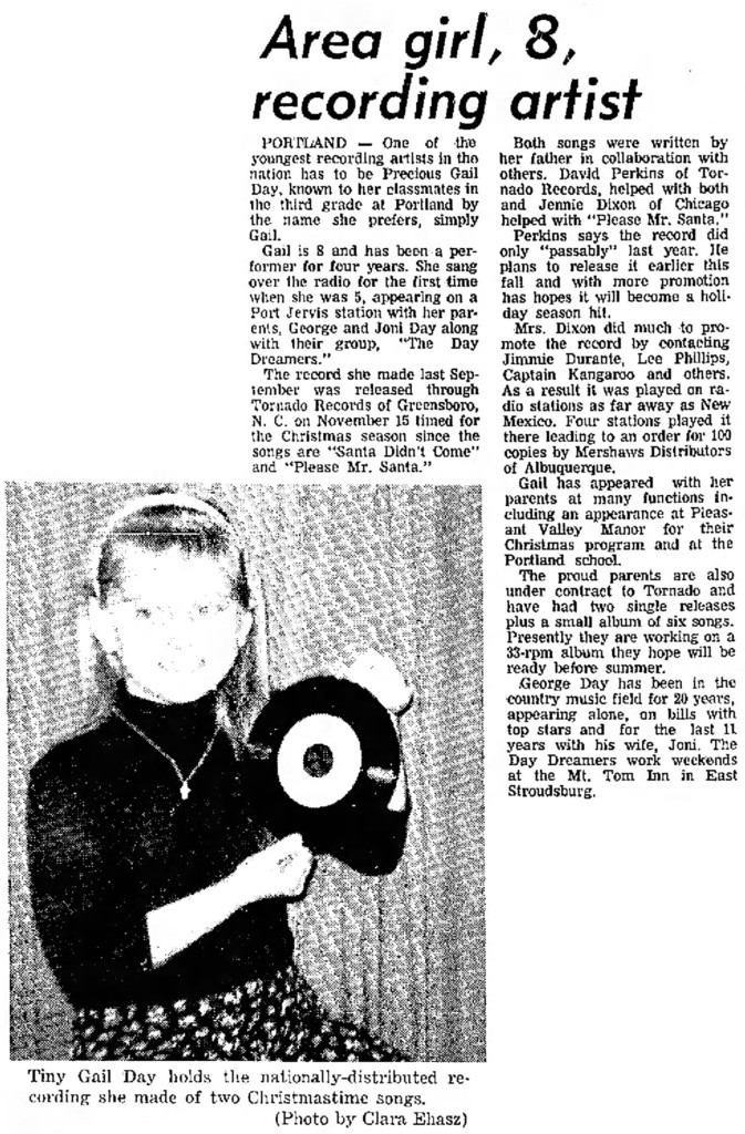 Profile of Tornado Records artist Gail Day, Feb. 2, 1967