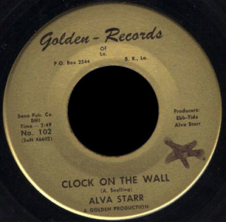 Alva Starr Golden 45 Clock on the Wall