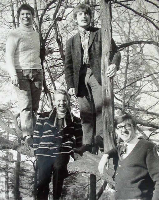 Dave Martin Group, 1966. Left to right: Dave Martin, John Chinnery, Roger Flavell and Albert Woodward.  Photo credit: John Chinnery