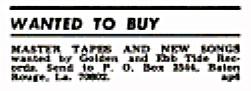 Ebb-Tide Golden Records Billboard February 3, 1968