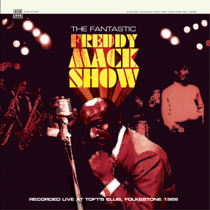 Cover of Freddy Mack's Live album, re-released by Acid Jazz