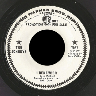 The Johnnys Warner Bros 45 I Remember