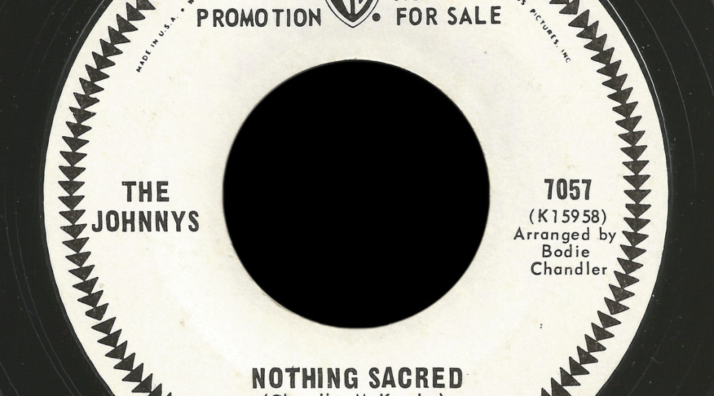 The Johnnys Warner Bros 45 Nothing Sacred