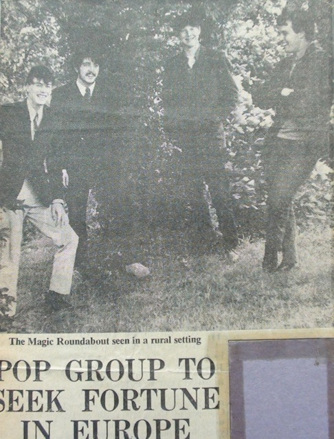 Dave Martin Group, 1967. Left to right: Lindsey Bex, Roger Flavell, John Chinnery and Dave Martin. Photo credit: John Chinnery