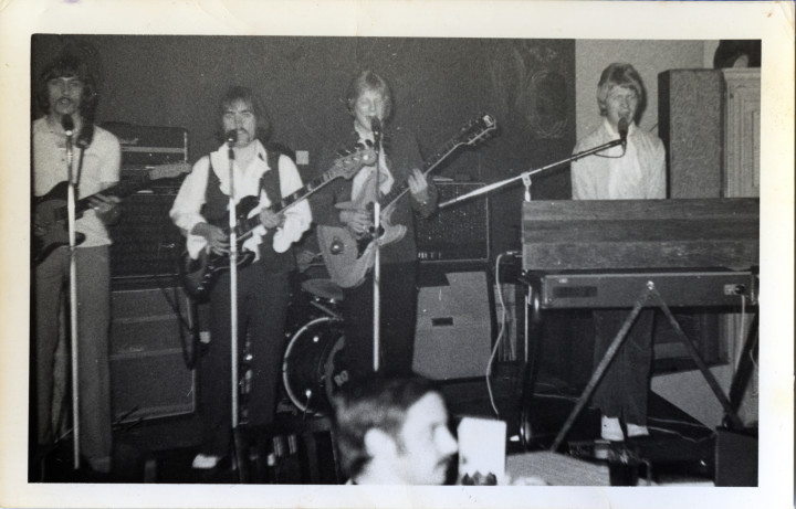 Magic Roundabout in 1969. Left to right: Ian Hollands, Ray Brown, John Chinnery and John Elliott. Photo credit: Ray Brown