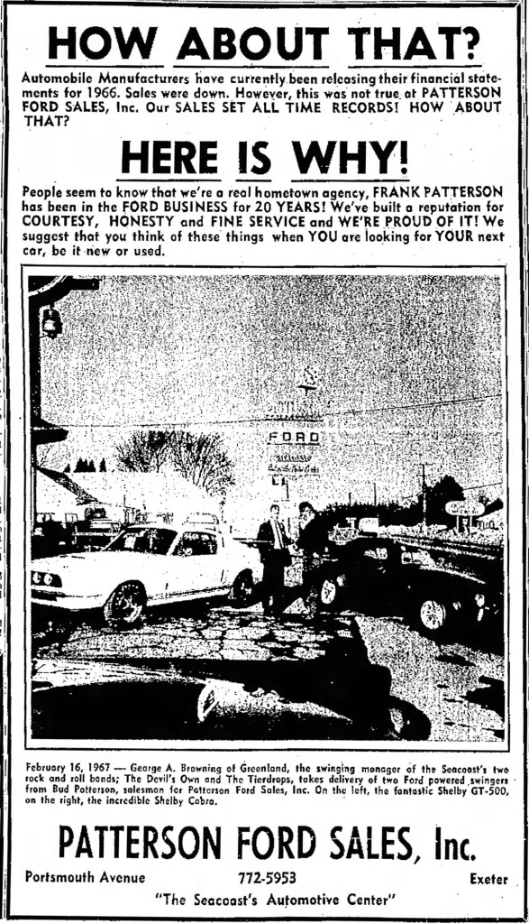 George A. Browning manager of the Devil's Own, Portsmouth Herald, Tue. Feb 21, 1967