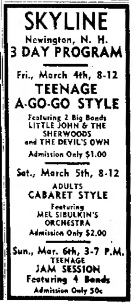 The Devil's Own with Little John and the Sherwoods, March 4, 1966