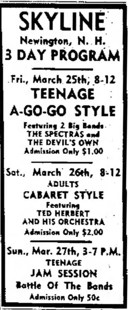 The Devil's Own with the Spectras, March 25, 1966