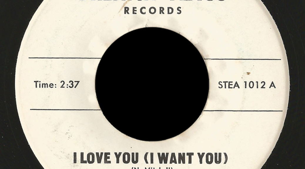 Early Americans Brenick Flagg 45 I Love You (I Want You)