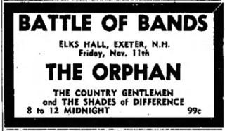 The Orphan, Country Gentlemen, Shades of Difference, Portsmouth Battle of the Bands, November, 1966