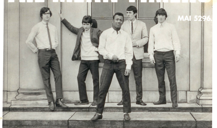 Simon K & The Meantimers, circa spring 1967. Left to right: Bill Pitt, Mick Armes, Kenny Simon, Rick Thomas and Paul Hewson. Photo: Michael Armes