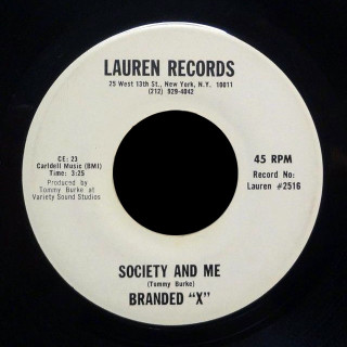 """Branded """"X"""" Lauren 45 Society and Me"""