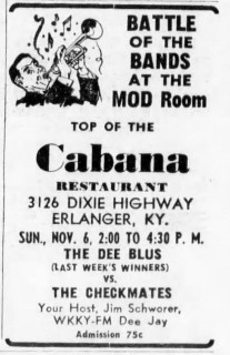 The Dee Blues and the Checkmates at the Mod Room, November 6, 1966