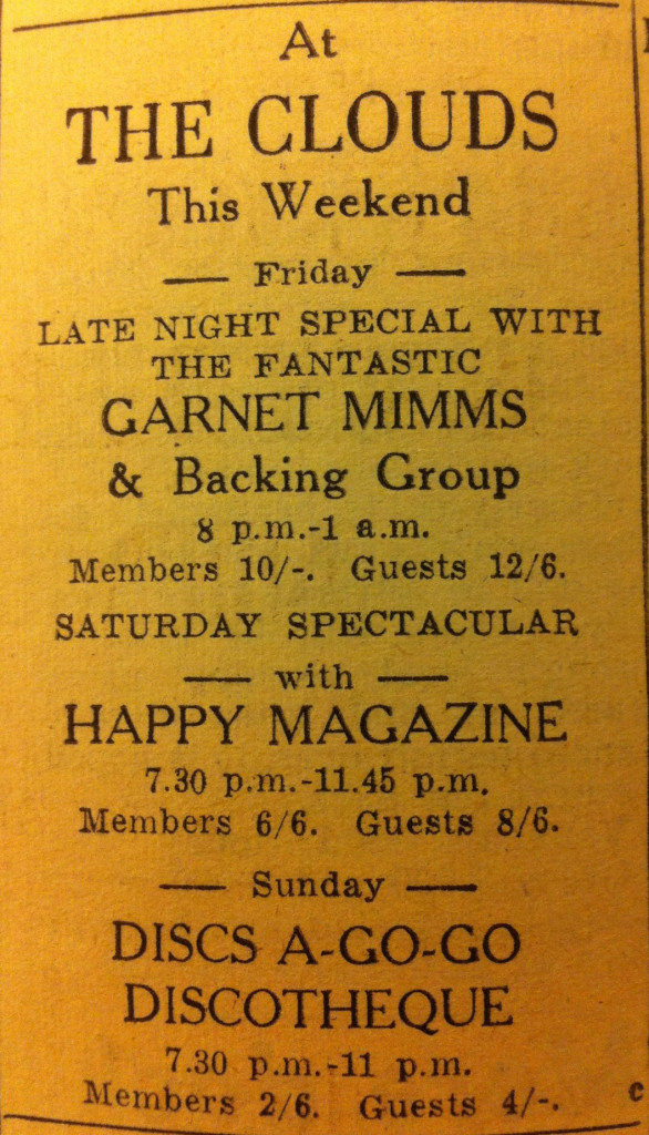Happy Magazine at Clouds 23 September 1967
