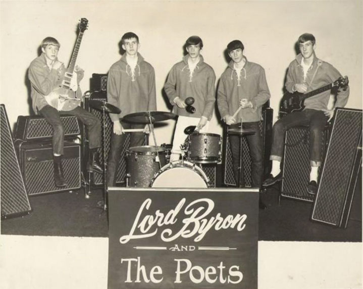 Lord Byron & the Poets with Vox equipment, from left: Ed Balog, , John Wheatley, Chip Woody, Danny Saxon and Jim Lacefield