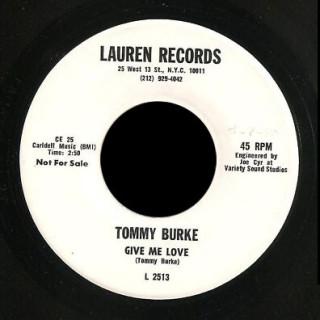 Tommy Burke Lauren 45 Give Me Love