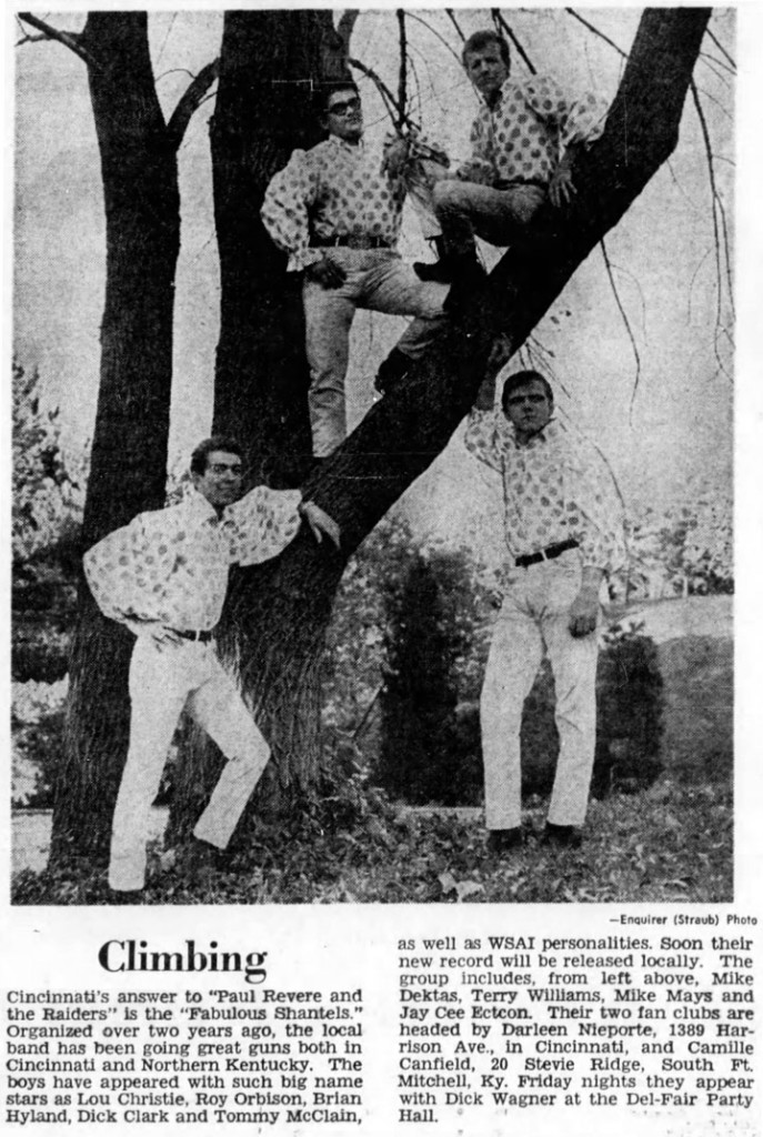 Fabulous Shantels, from left: Mike Dektas, Terry Williams, Mike Mays and Jay Cee Ectcon, November 12, 1966