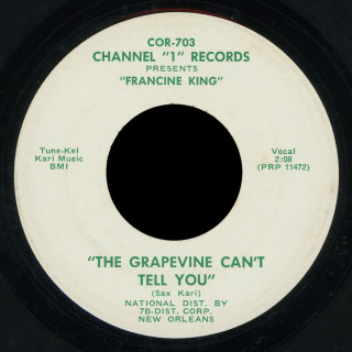 Francine King Channel 1 45 The Grapevine Can't Tell You