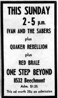 Ivan & the Sabres, the Quaker Rebellion, and Red Brale at One Step Beyond, Feb. 24, 1968
