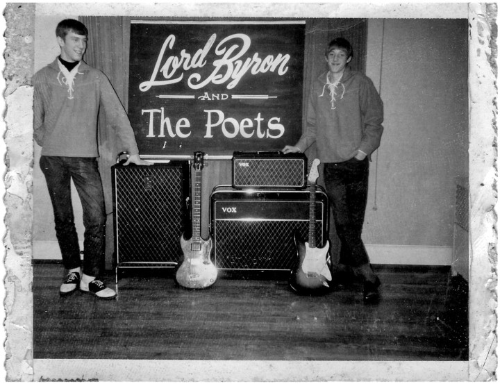 Jim Lacefield and Ed Balog of Lord Byron and the Poets with Vox amps