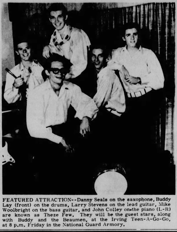 Theze Few, March 1967, Dan Seals, Buddy Lay, Larry Stevens, Mike Woolbright, John Colley