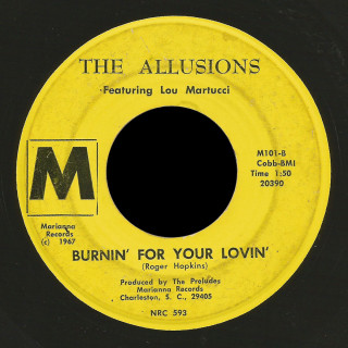Allusions featuring Lou Martucci Marianna 45 Burnin' For Your Lovin'
