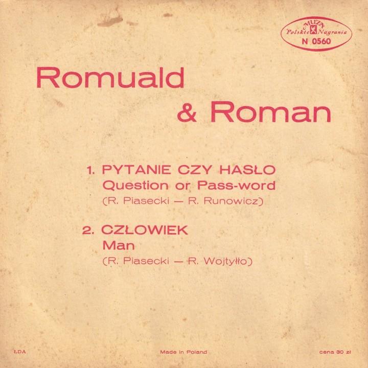Romuald i Roman Muza Polskie Nagrania EP back