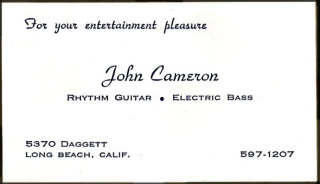 John Cameron's business ard