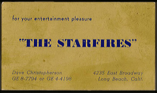 Starfires Long Beach business card