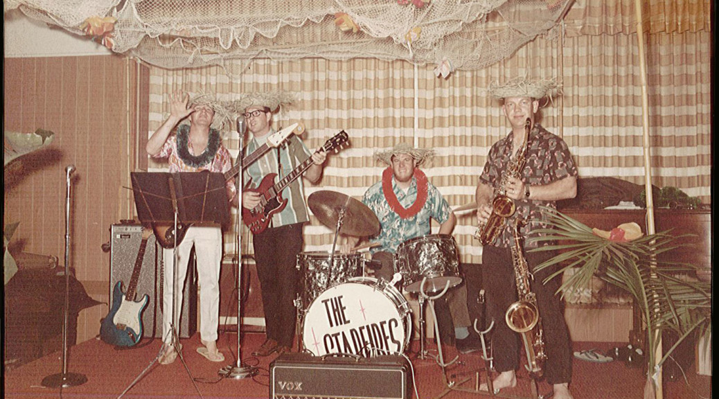 The Starfires of Long Beach, from left: Al (surname?) on sax, Pete Wilson, John Cameron, and Dave Christopherson