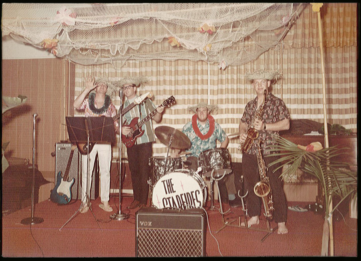 The Starfires of Long Beach, from left: John Cameron, Pete Wilson, Dave Christopherson and Al (surname?) on sax