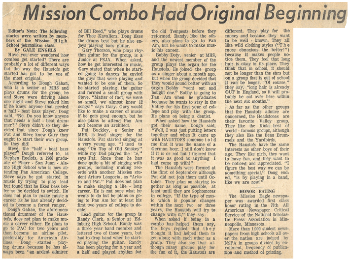 The Haustofs, Mission Combo Had Original Beginning