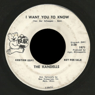 Kandells Bear 45 I Want You To Know