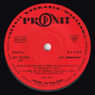 Kawalerowie Pronit EP 0457 side A