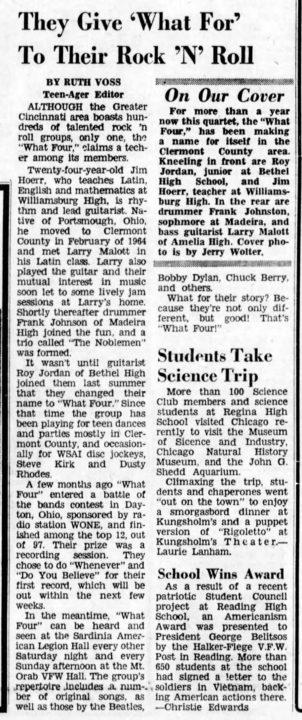 What Four Cincinnati Enquirer. April 2, 1966