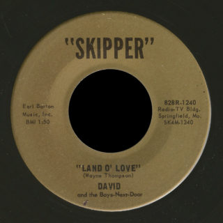 David And The Boys-Next-Door Skipper 45 Land O' Love