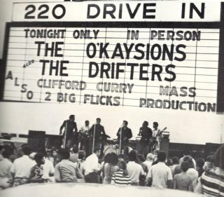 O'Kaysions and Drifters at the 220 Drive-in in Martinsville, VA., May, 1970.