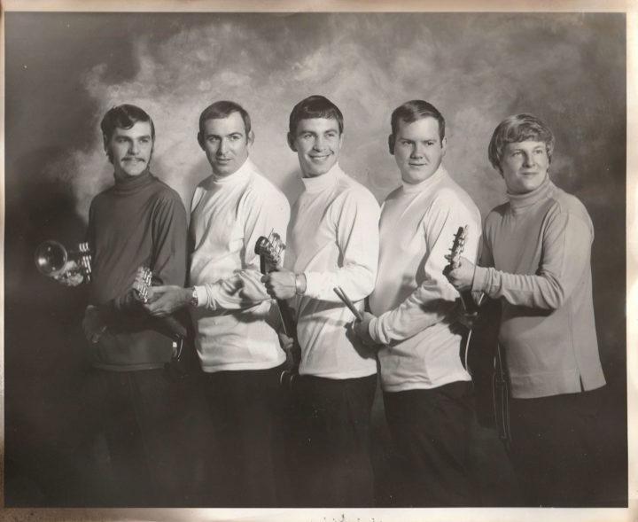 The Sounds of Sandlin photo: Henry Rawls, John Tabor, Andy Facundus, J.W. Howell, and Billy Sandlin