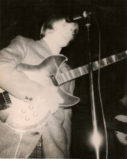 Eric Olson in the early days of the Next Five when he still played guitar
