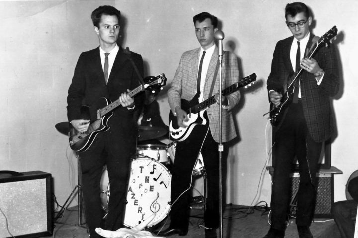Blazers Photo: Harry Alexander, Bob Houghland (obscured), Ronnie Griffith, John Adler