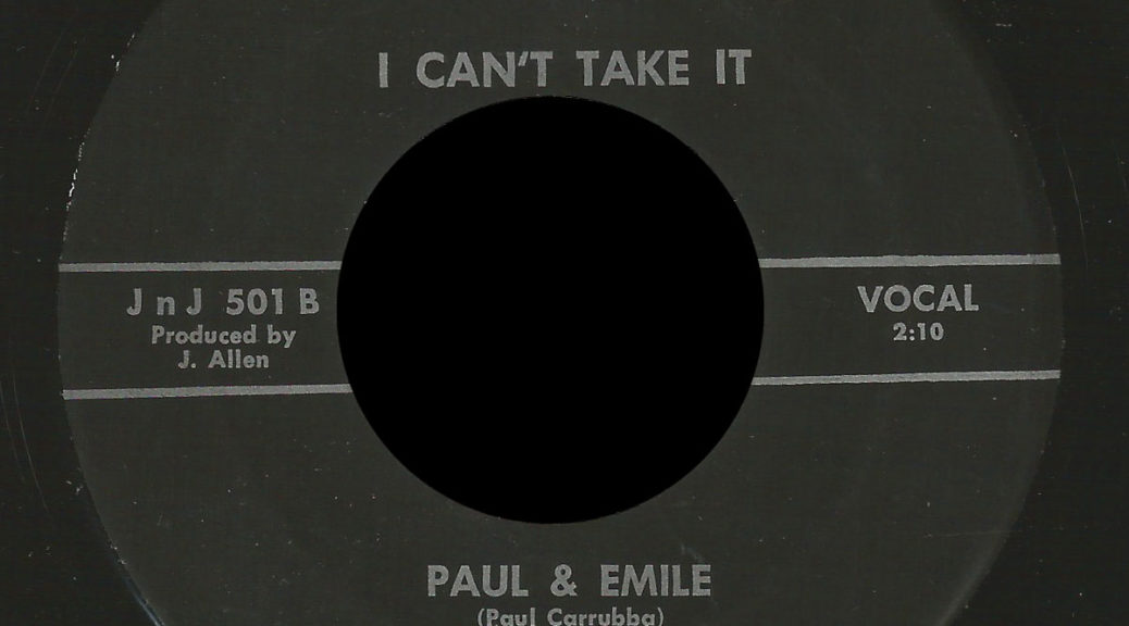 Paul & Emile and the Brighter Side J n J 45 I Can't Take It