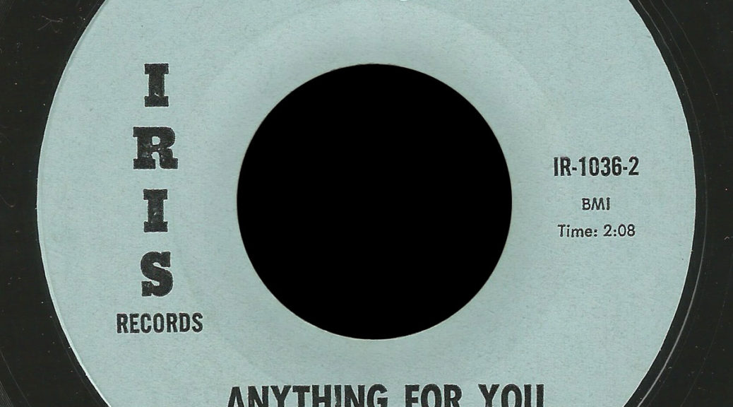 Blue Iris Records 45 Anything For You