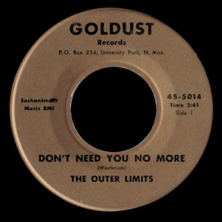 Outer Limits Goldust 45 Don't Need You No More