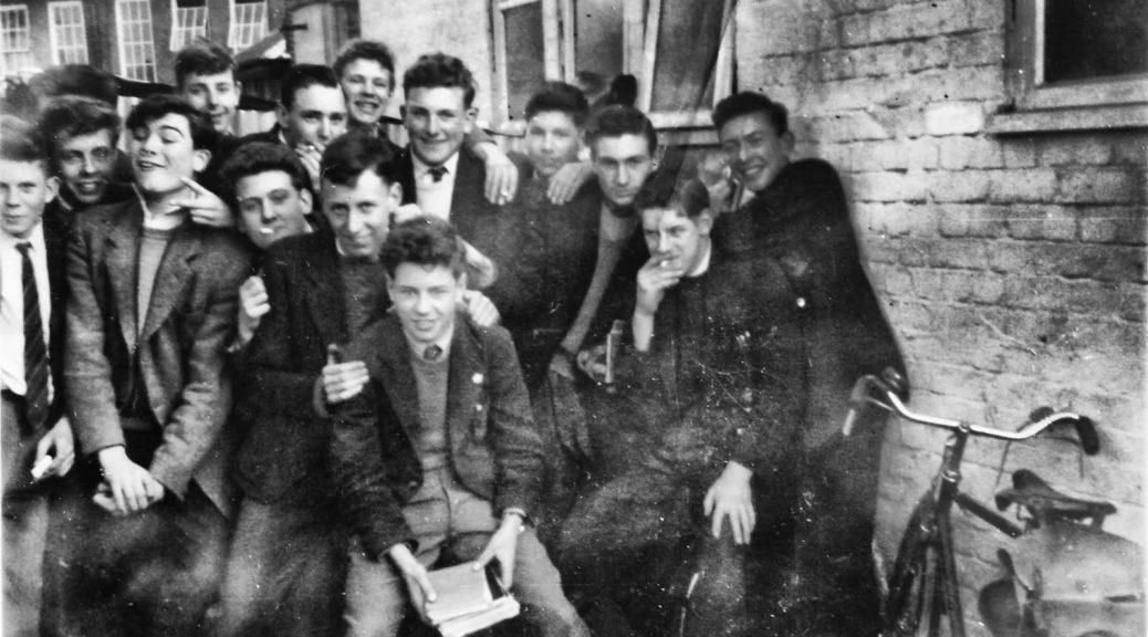 Westcliff High School for Boys circa 1958: Nigel Basham, Arthur Walker, Martin Bayley, Chris Winch, Selwyn, Ian Crawshaw.