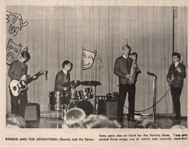 Ronnie and the Sensations news clipping