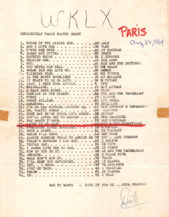 WKLX Paris, KY Survey August 28, 1964