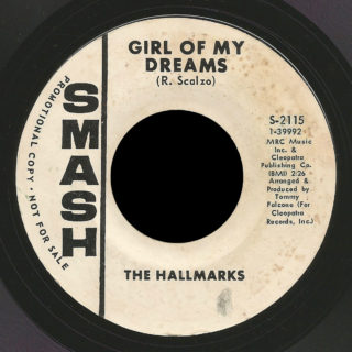 Hallmarks Smash 45 Girl Of My Dreams