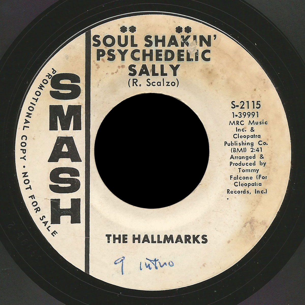 The Hallmarks Soul Shakin Psychedelic Sally Girl Of My Dreams