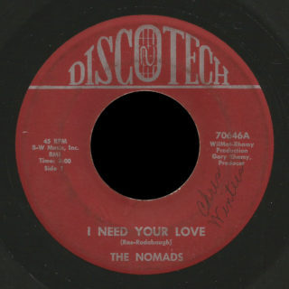 Nomads Discotech 45 I Need Your Love