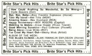 Alan Franklin Explosion Billboard 1971, July 24